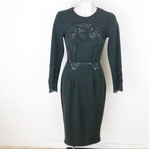 ASOS olive green lace dress                   A119